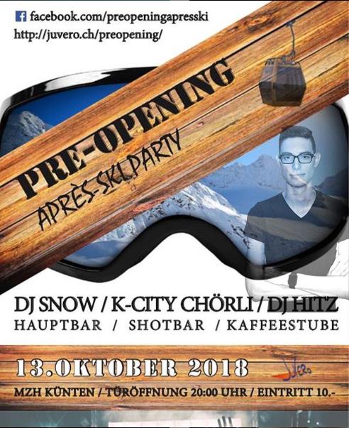 13. Oktober 2018 Pre-Opening Apreskiparty
